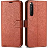 Case Collection Premium Leather Folio Cover for Sony Xperia