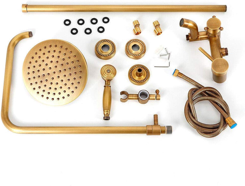 SENDERPICK Duschsystem, Retro Bronze Regendusche Duschkopf Duscharmatur Handbrause Duschset