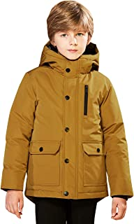 SOLOCOTE Kids Boys Winter Coats Hooded Warm Thick Heavy Weight Tough Long Jacket Water Resistant Windproof Outwear