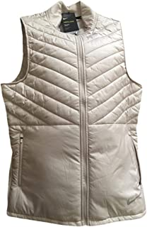 Nike Mens AeroLayer Thermore Insulated Running Vest (Medium, Desert Sand/Desert Sand/Desert Sand)