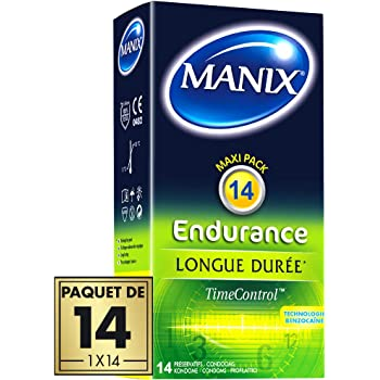Préservatifs MANIX ENDURANCE - effet longue durée - Paquet de 14