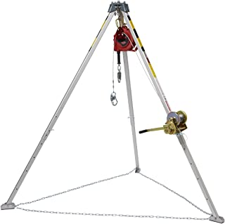 3M Protecta PRO AA805AG1 Confined Space System Kit, with 8' Tripod, 50' Winch, Carabiner, Pulley, and 50' Rebel Self-Retracting Lifeline