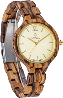 UWOOD Women Wooden Watches Analog Swiss-Quartz Watch with Wood Bracelet W1003A