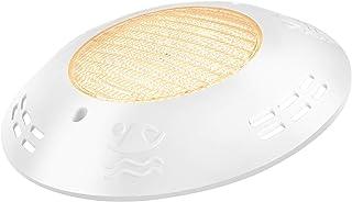 LyLmLe Lámpara Piscina 18W Foco LED Piscina Plano Sumergible para Superficie,Impermeable IP68,12V DC/AC,3000K Blanco Cálido