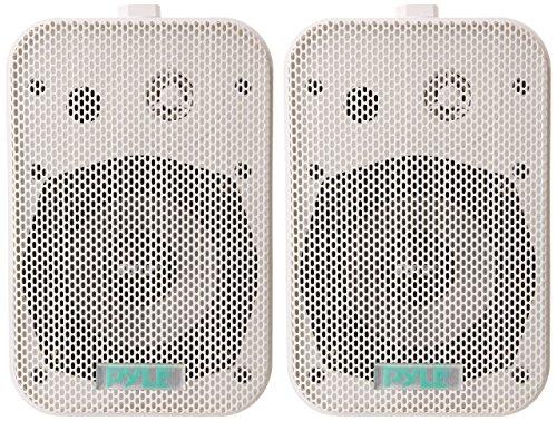 Pyle 5.25' 2-Way White Waterproof Home Speakers, Pair, Certified Refurbished