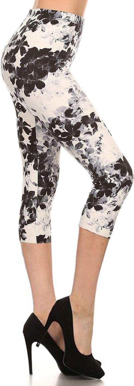 Leggings Depot Capri REG/Plus Fashion Print Leggings Capri BAT1