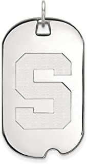 JewelrySuperMart Collection Sterling Silver NCAA University & College Athletics Dog Tag Pendant