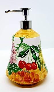 Dosatore Linea Frutti Misti Ceramica Handmade Le Ceramiche del Castello Made in Italy Dimensioni 20 x 12 cm