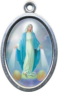 60.836.31/M/édaille Miraculeuse Madonna Maria Miracle Logo pri/ère anglais argent mesure 9/cm /émaill/é /à la main
