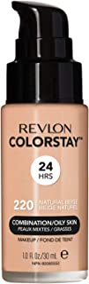 Revlon Colorstay Liquid Foundation For Combination/Oily Skin, Spf 15 Natural Beige, 1 Fl Oz