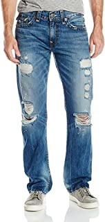 True Religion Men's Indigo Misfit Super T Ricky Relaxed Straight with Flap Jean