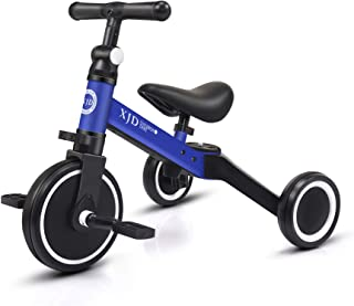 XJD 3 in 1 Kids Tricycles for 1-3 Years Old Kids Trike 3 Wheel Toddler Bike Boys Girls Trikes for Toddler Tricycles Baby B...