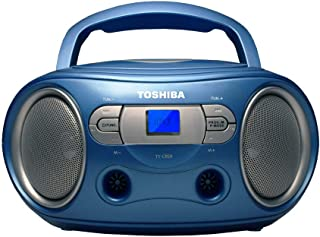 Toshiba TY-CRS9(L) Portable CD Boombox with Am/FM Stereo and Aux Input Blue