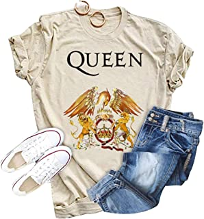 Anbech Womens Vintage Tank Tops The Show Must Go On Funny Graphic Freddie Mercury Shirt Sleeveless Queen Band Tee