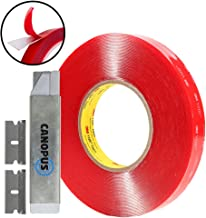 3M VHB Tape Double Sided - Clear Mounting Tape Converted from 3M 4910 roll, 1 in x 15 ft, 1 Roll with Box Cutter (1PC) and Razor Replacement (2PCs)