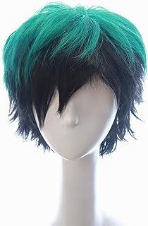 Soul Wigs: Izuku Midoriya in My Hero Academia Inspired Short Green Hair with Dark Black