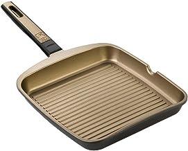 BRA- Grill asador con Rayas, Aluminio Fundido con Antiadherente Teflon Select,aptas para Todo Tipo de cocinas incluida inducción, Terra 28 cm