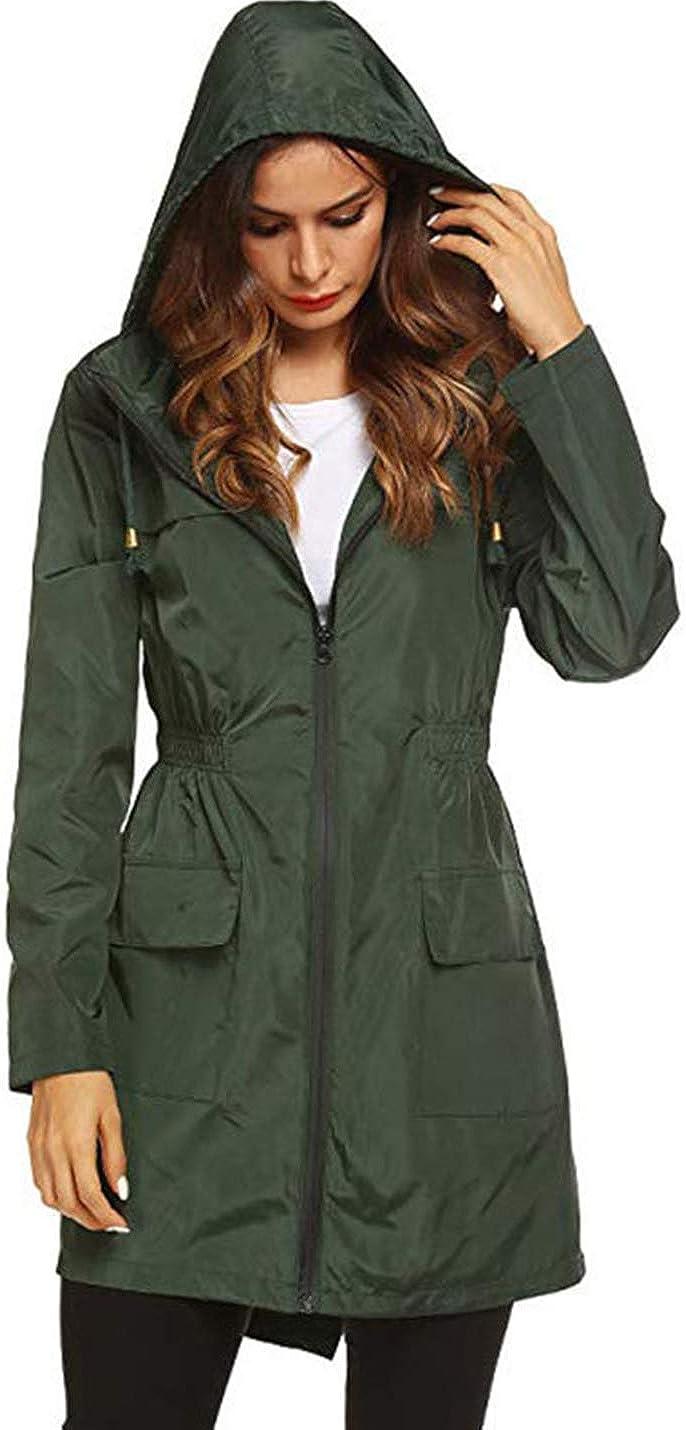 Yimoon Women's Breathable Rain Jacket Lightweight Waterproof Raincoat Windbreaker
