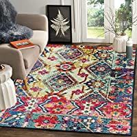100% Polyester Yarn , Backing Material : Anti skid Rubber Gel Form Compund The multipurpose features of mat can protect your feet from cold floor, runner carpet for bedroom,floor mat,runner rug,bedside runner Vintage Carpet Rug dimensions measure 4x6...
