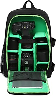 LOTEC Multi-Functional Waterproof Camera Backpack Bag for DSLR/SLR Cameras,Lenses, Laptop/Tablet and Photography Accessories (Green)