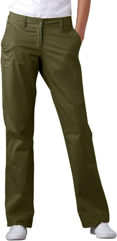 ellos Women's Plus Size Classic Chino Pants