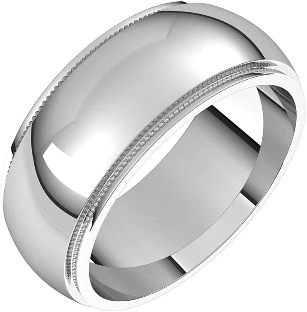Ranking TOP17 Tarnish Resistant Max 41% OFF Solid 925 Sterling Silver 8mm Edge Milgrain We