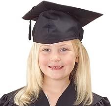 U.S. Toy Children's Child Size Adjustable Elastic Band Black Graduation Cap Hat with Tassel