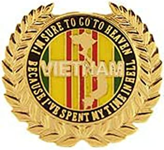 EE, Inc. I'm Sure to Go to Heaven Vietnam Pin Military Collectibles for Men Women