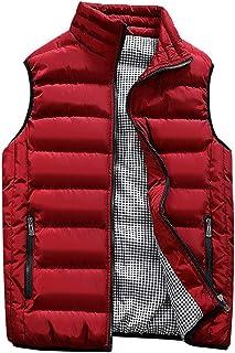 Guanzizai Men's Outdoor Casual Stand Collar Outwear Padded Vest Coats