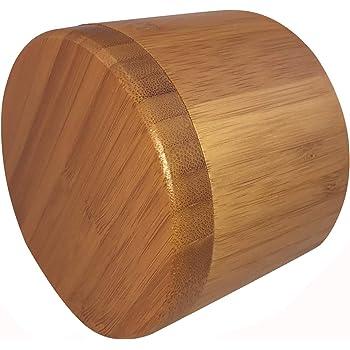 ACAMPTAR Caja De Sal, Caja De Almacenamiento De Bambú con Tapa Giratoria Magnética, Sal Grabada En La Tapa Grabada - Sal: Amazon.es: Hogar