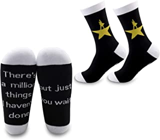 G2TUP Hamilton Musical Inspired Star Gift Hamilton Socks There's a Million Things I Haven't Done But Just You Wait (Just Y...