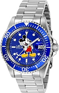 Invicta Men's Disney Limited Edition Automatic-self-Wind Watch with Stainless-Steel Strap, Silver, 14 (Model: 24608)