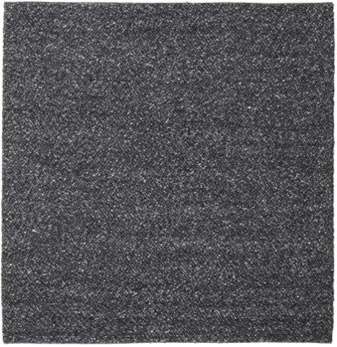 RugVista Bubbles - Melange Schwarz Teppich 250x250 Moderner, Quadratisch Teppich