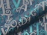 Raumausstatter.de Möbelstoff Letters 400 Muster Buchstaben