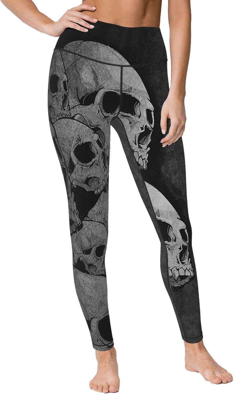 Tnbr51@ Womens Skull High Luxury goods Waist Casual Pan Jogger Yoga Leggings SALENEW very popular!