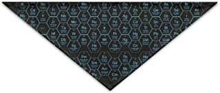 Logic Theory Honeycomb Periodic Table Blue.png Pet Scarf Dog Cat Bandana Collars Triangle Neckerchief