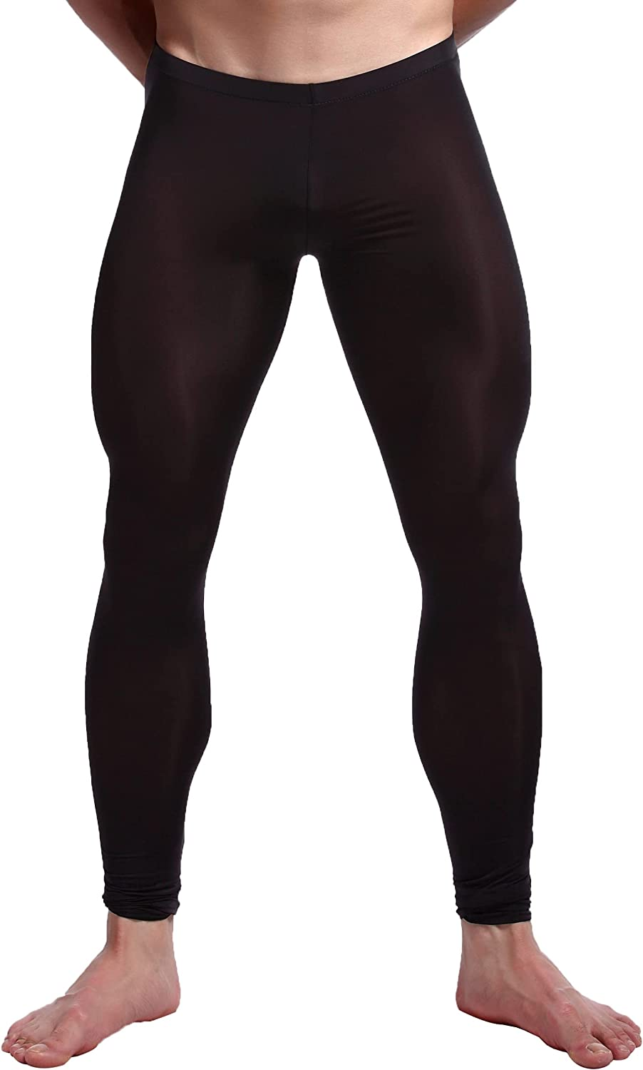 easyforever Mens Mesh See-Through Sexy Tights Compression Thermal Sport Gym Training Running Pants Yoga Leggings