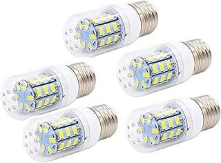 MD Lighting 5W E26/E27 LED Bulb Corn Light Bulbs(5 Pack)- 5730 SMD 24 LEDs Bulb Lamp 450LM Daylight White 6000K LED Corn Bulb Replacement for Home Office Bar Ceiling Light Wall Lamp,AC110V-130V
