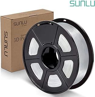 SUNLU PLA Filament 1.75mm 3D Printer 3D Pens 1KG PLA Filament +/- 0.02 mm, Transparent