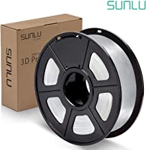 SUNLU PLA Filament 1.75mm 3D Printer 3D Pens 1KG PLA Filament +/- 0.02 mm, Transparent