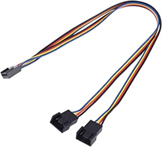 Network parts 1 to 2 4 Pin Computer Components Chassis Fan Cable, Length: 30cm