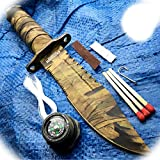 New 8.5' Inch Tactical Fishing Hunting Military Camo Pro Tactical Limited Knife Survival Kit Blade W/ Sheath Camping Outdoor B-0416A by ProTacticalUS