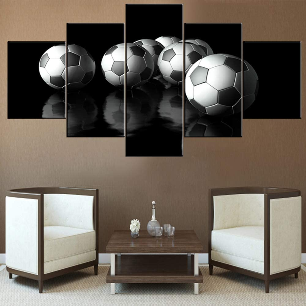 House Decorations Ranking TOP15 Living Room Soccer Paintings an Football Black shipfree