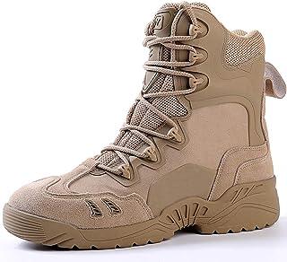 Treasu-LQ Chaussures de randonnée Montantes d'extérieur pour Homme Bottes Tactiques de Combat du désert Bottes Militaires ...