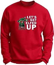 ThisWear Dabbing Santa's Elf Let's Get Elfed Up Premium Crewneck Sweatshirt