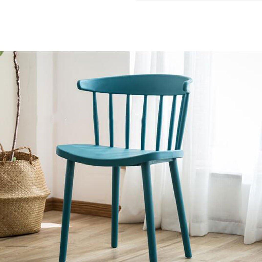 AJZGFChaise de salle à manger, chaise de cuisine Chaise de dossier nordique, chaise simple en plastique de loisirs chaise de bureau à la maison (Color : D) A