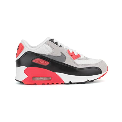 low priced 353cb 1fb16 Nike Air Max 90 Premium Infrared Preschool Boys White Neutral  Grey Black Cool