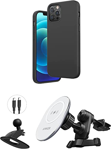 lowest Anker Magnetic Silicone Case, 6.1 Inches for iPhone 12 (Dark Gray) & Anker online PowerWave Magnetic Car Charging Mount with 4 ft USB-C Cable lowest (USB-C Car Charger Not Included) sale