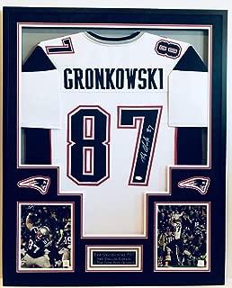 Rob Gronkowski, 87, New England Patriots, Framed Autographed Signed Jersey (Size XL) JSA/Coa