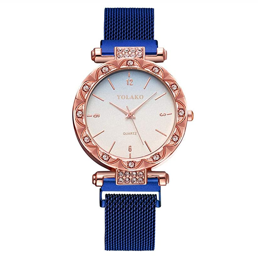 怠な平凡天使Ecotrumpjp スマートウォッチ スタンダード 腕時計 おしゃれ 防水 クォーツ時計レディース 可愛い ファッションマッチ 星の虹のグラデーション 星空 プレゼント用 ブルー